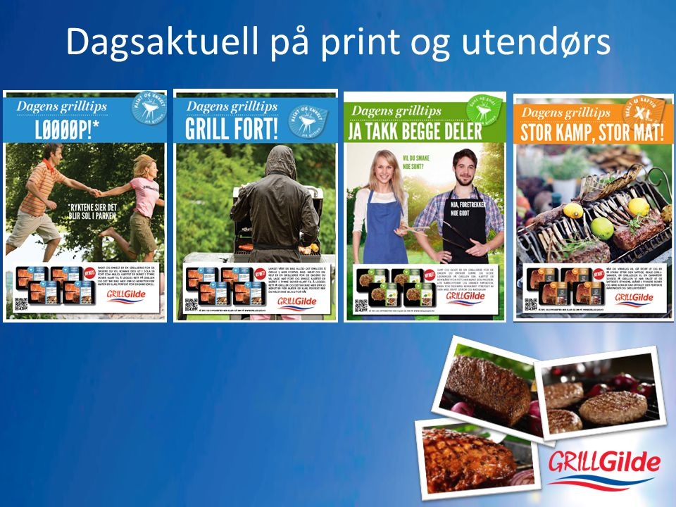 Dagsaktuell på print og utendørs