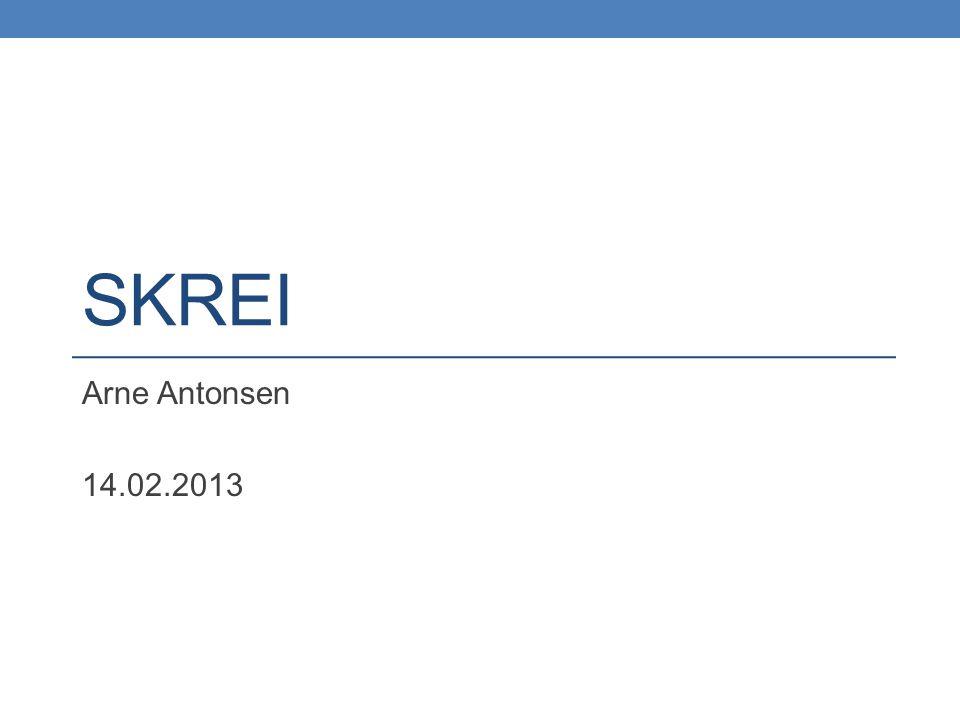 SKREI Arne Antonsen 14.02.2013