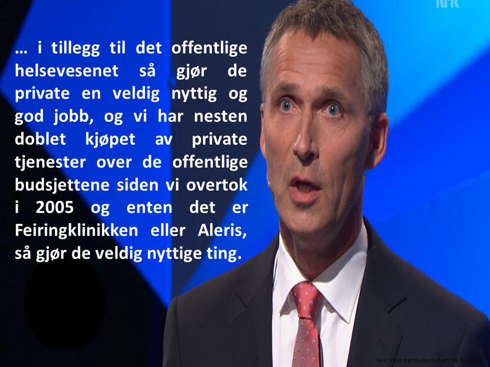 Dag Ekelberg, Næringspolitisk direktør NHO-Service Klassekampen 02.03.2011 Ingen forskjeller - ett fett.