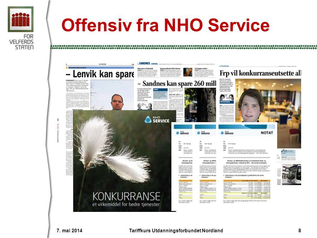 Advarer kommunene mot NHO 7. mai 2014 9Tariffkurs Utdanningsforbundet Nordland