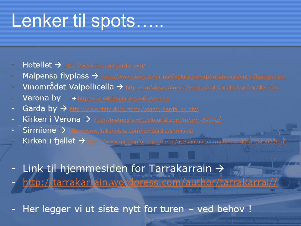 Lenker til spots…..