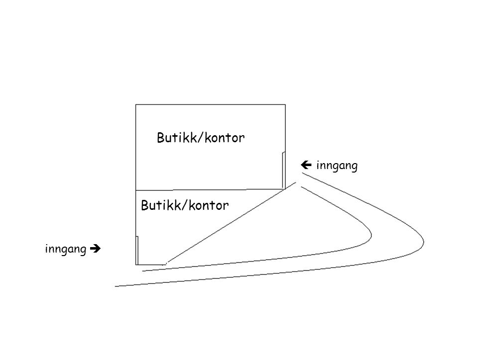 inngang   inngang Butikk/kontor
