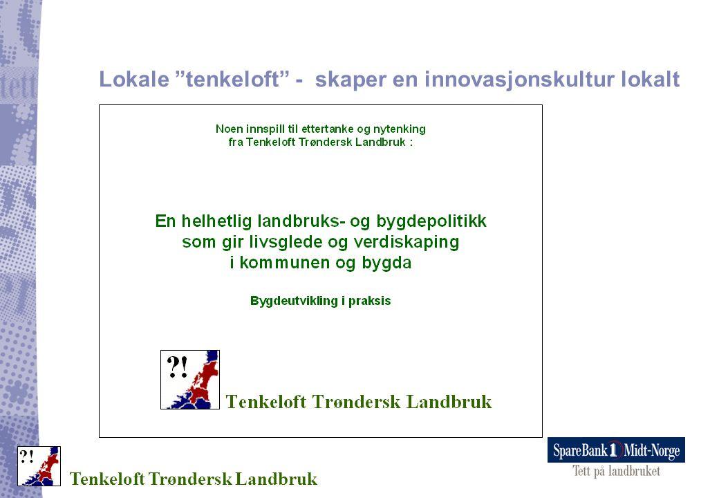 """Lokale """"tenkeloft"""" - skaper en innovasjonskultur lokalt Tenkeloft Trøndersk Landbruk ?!"""