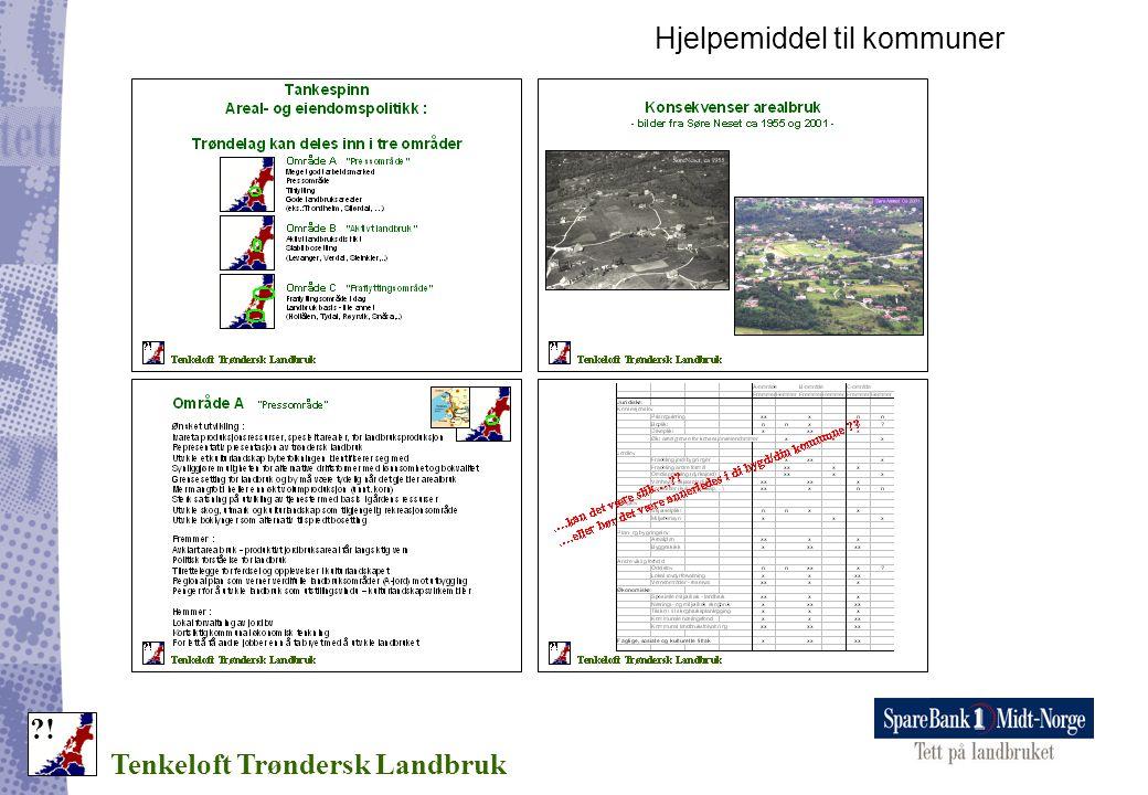 Hjelpemiddel til kommuner Tenkeloft Trøndersk Landbruk ?!
