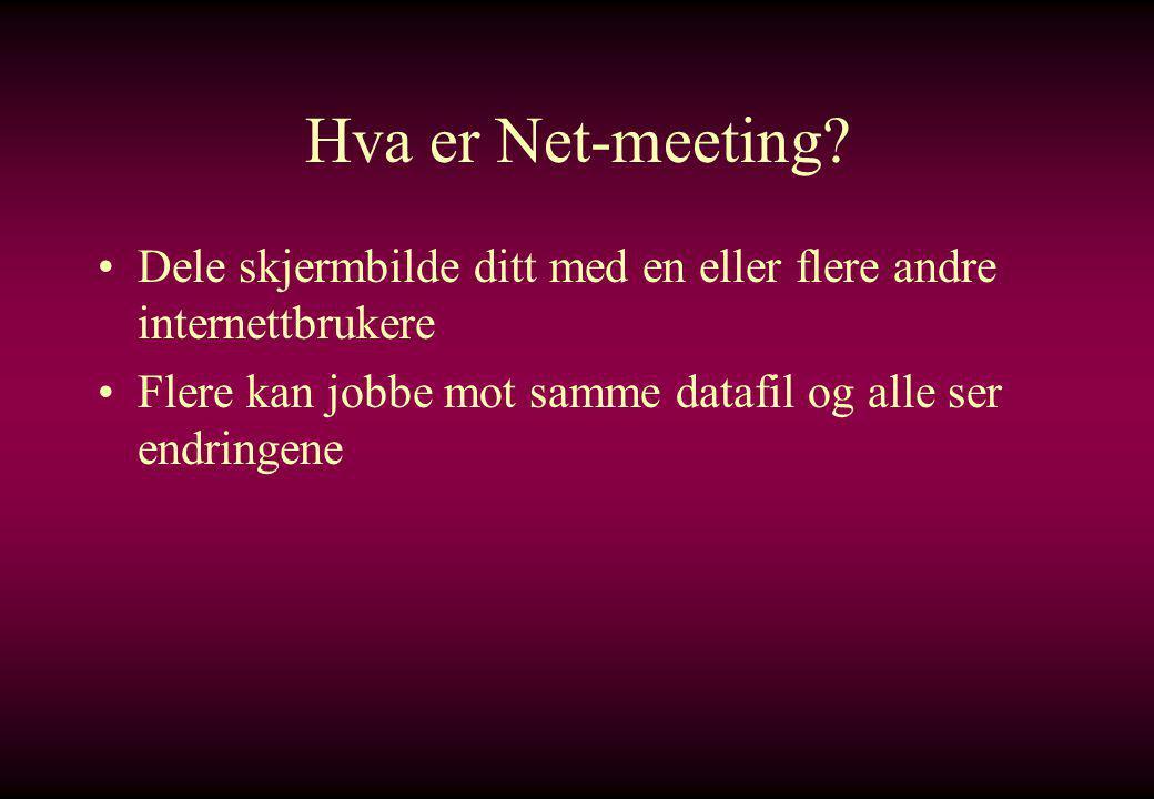 Hva er Net-meeting.