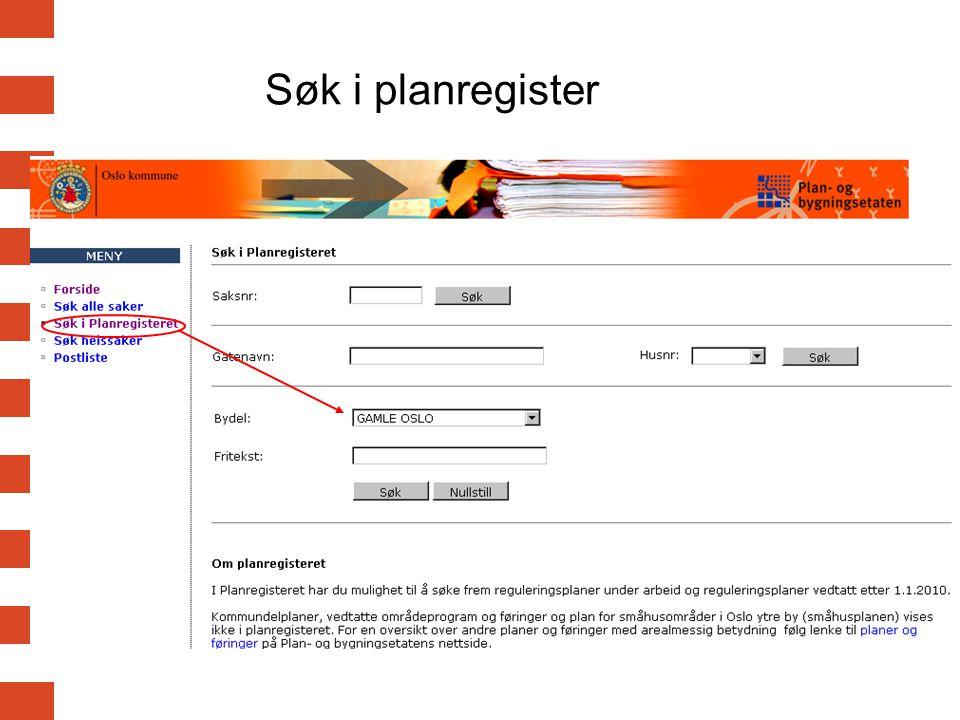 Søk i planregister
