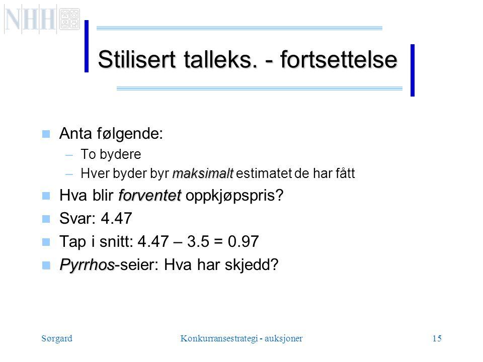 SørgardKonkurransestrategi - auksjoner15 Stilisert talleks.