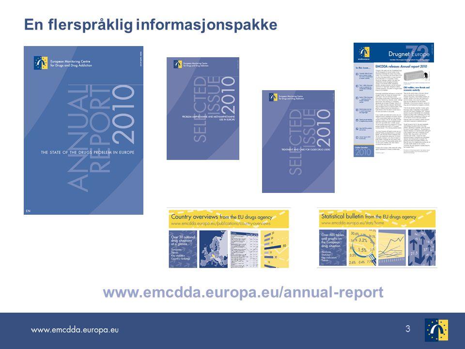3 En flerspråklig informasjonspakke www.emcdda.europa.eu/annual-report