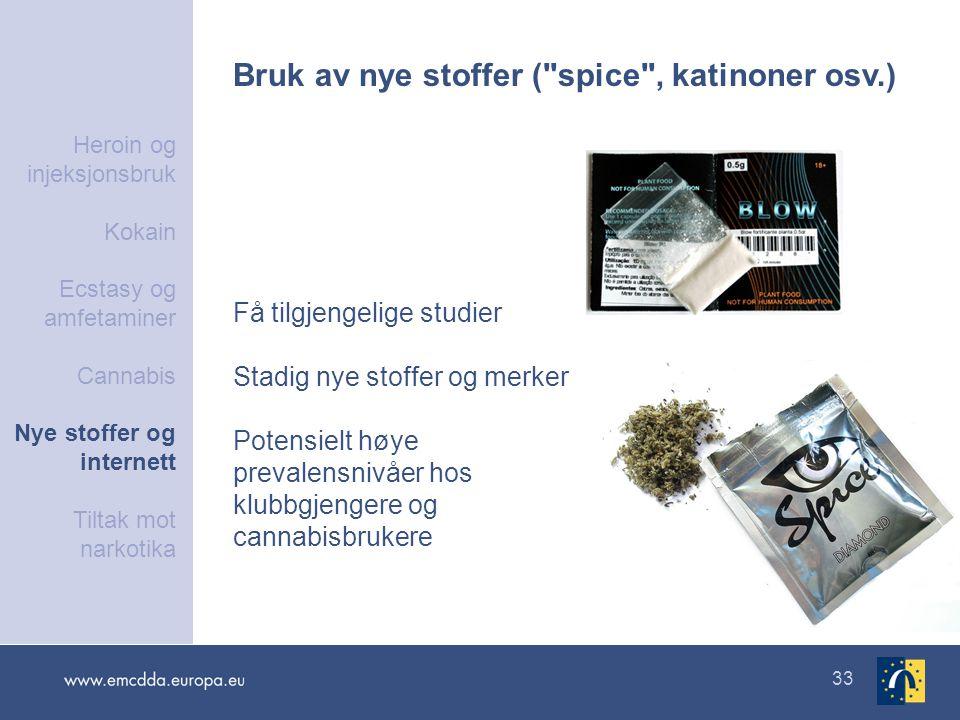 33 Bruk av nye stoffer (
