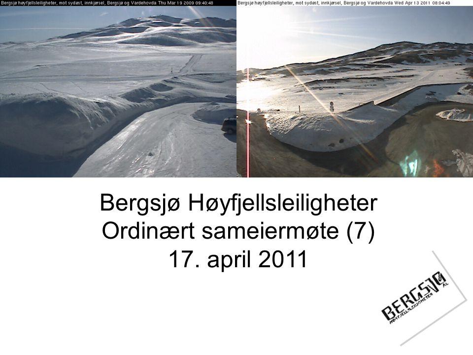 Bergsjø Høyfjellsleiligheter Ordinært sameiermøte (7) 17. april 2011