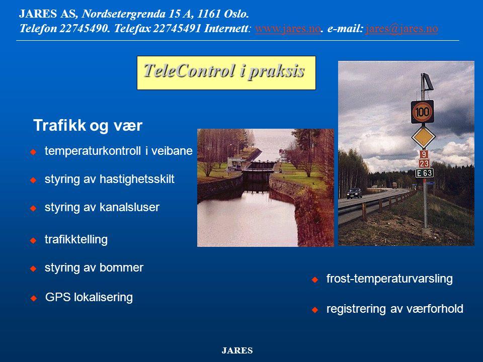 JARES AS, Nordsetergrenda 15 A, 1161 Oslo.Telefon 22745490.