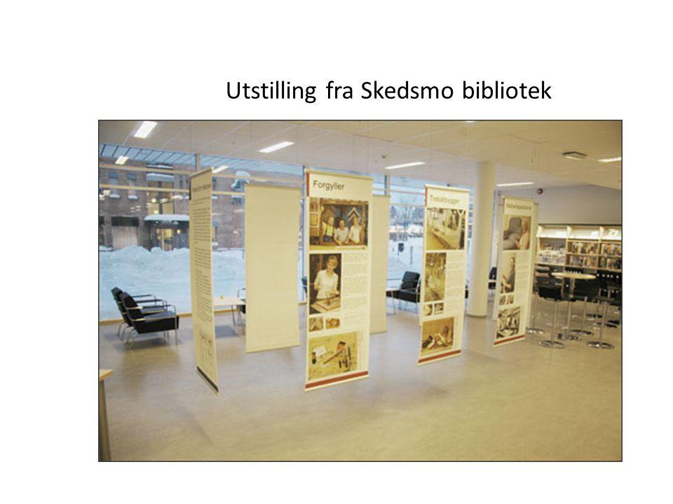 Utstilling fra Skedsmo bibliotek