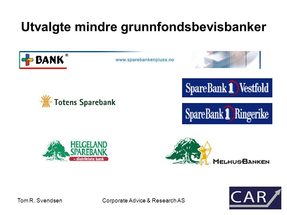 Tom R. SvendsenCorporate Advice & Research AS MARKEDSSTATISTIKK GRUNNFONDSBEVIS 2003