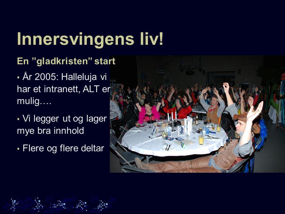 Innersvingens liv.En gladkristen start • År 2005: Halleluja vi har et intranett, ALT er mulig….