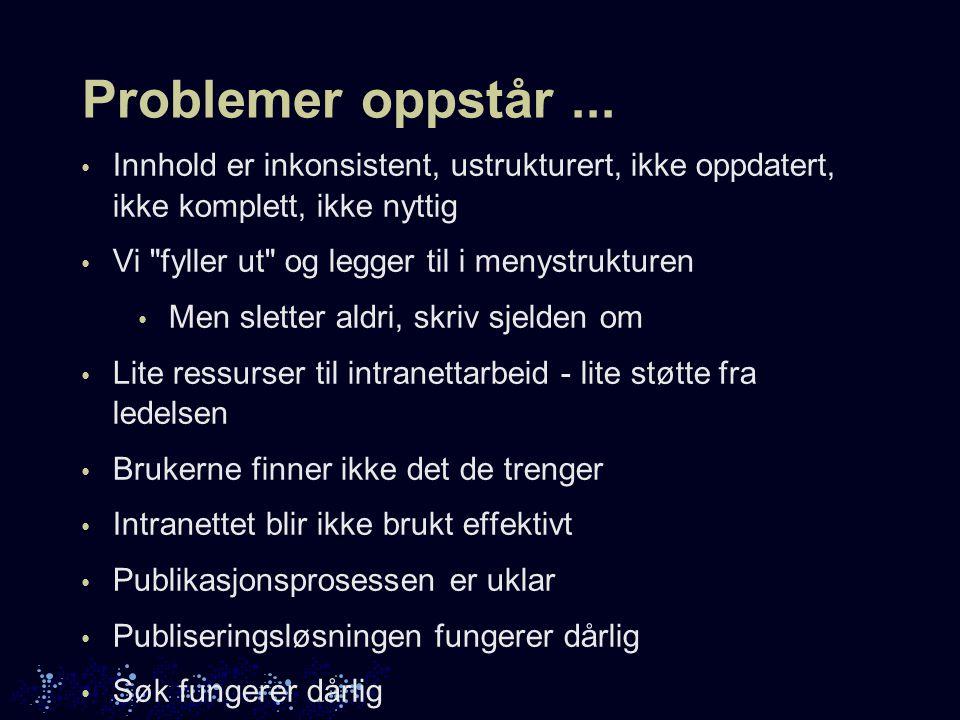 Problemer oppstår...