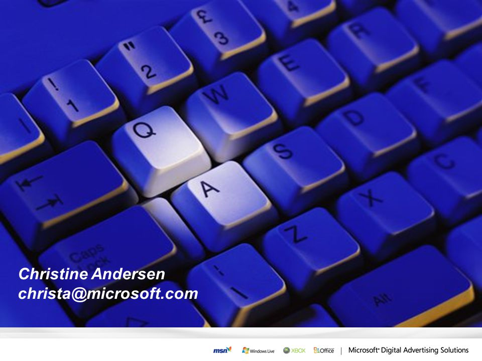 Christine Andersen christa@microsoft.com