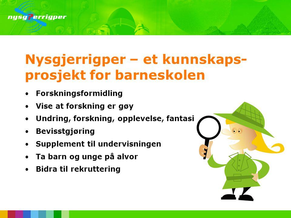 Sesjon 4A – IKT Troms •Litt om Nysgjerrigpers ulike aktiviteter •nysgjerrigper.no som et supplement til undervisningen •Litt om lyn og torden, kjemiske reaksjoner, planetbaner og nanoteknologi •Hvordan lage årets billigste julegave sammen med elevene.