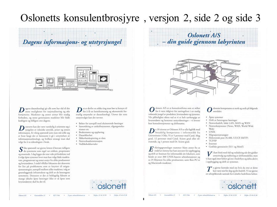 Oslonetts konsulentbrosjyre, versjon 2, side 2 og side 3
