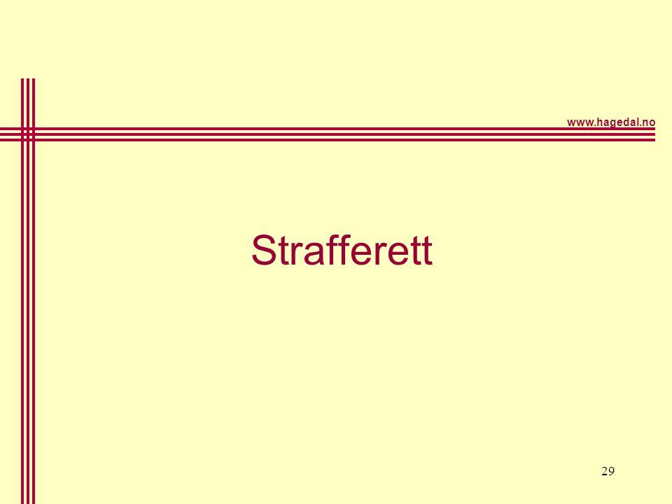 www.hagedal.no 29 Strafferett