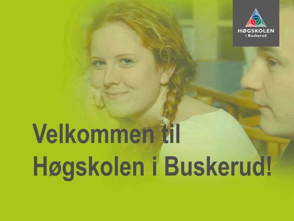 Velkommen til Høgskolen i Buskerud!