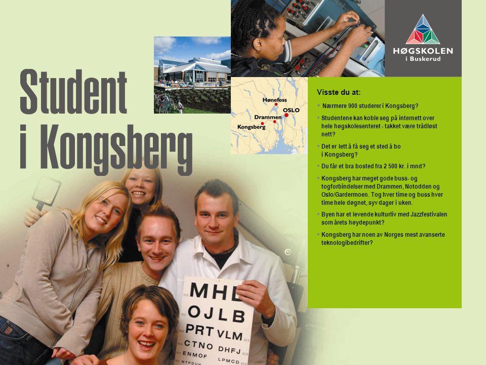 Visste du at:  Nærmere 900 studerer i Kongsberg.