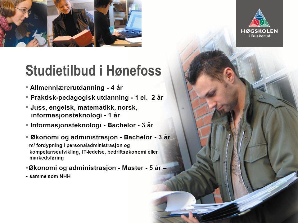  Som en del av studiene ved Høgskolen i Buskerud  Påbygning etter fullførte studier ved Høgskolen