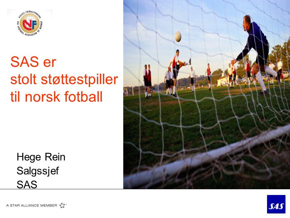 Hvorfor støtter SAS norsk fotball.