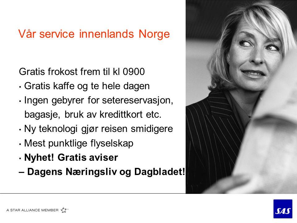 SAS og norsk fotball • Støtte til topp og bredde • Spesialtilpassede priser og produkter til norsk idrett og fotball • Fleksibilitet – om det er mulig