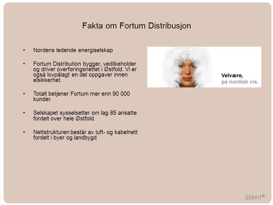 Fakta om Fortum Distribusjon •Nordens ledende energiselskap •Fortum Distribution bygger, vedlikeholder og driver overføringsnettet i Østfold. Vi er og