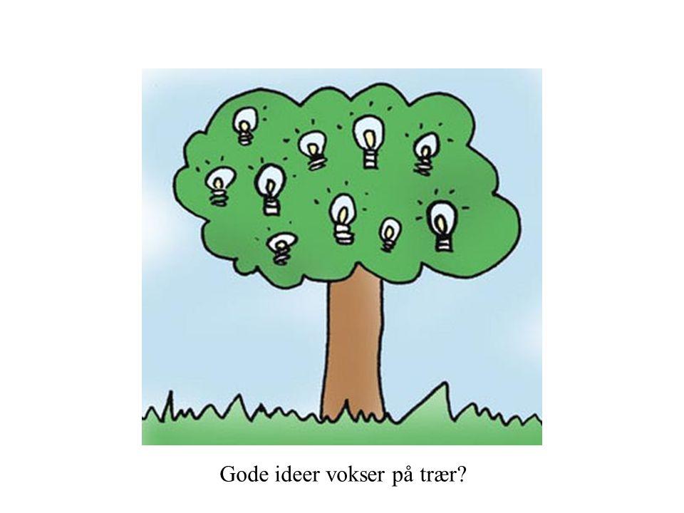 Gode ideer vokser på trær?