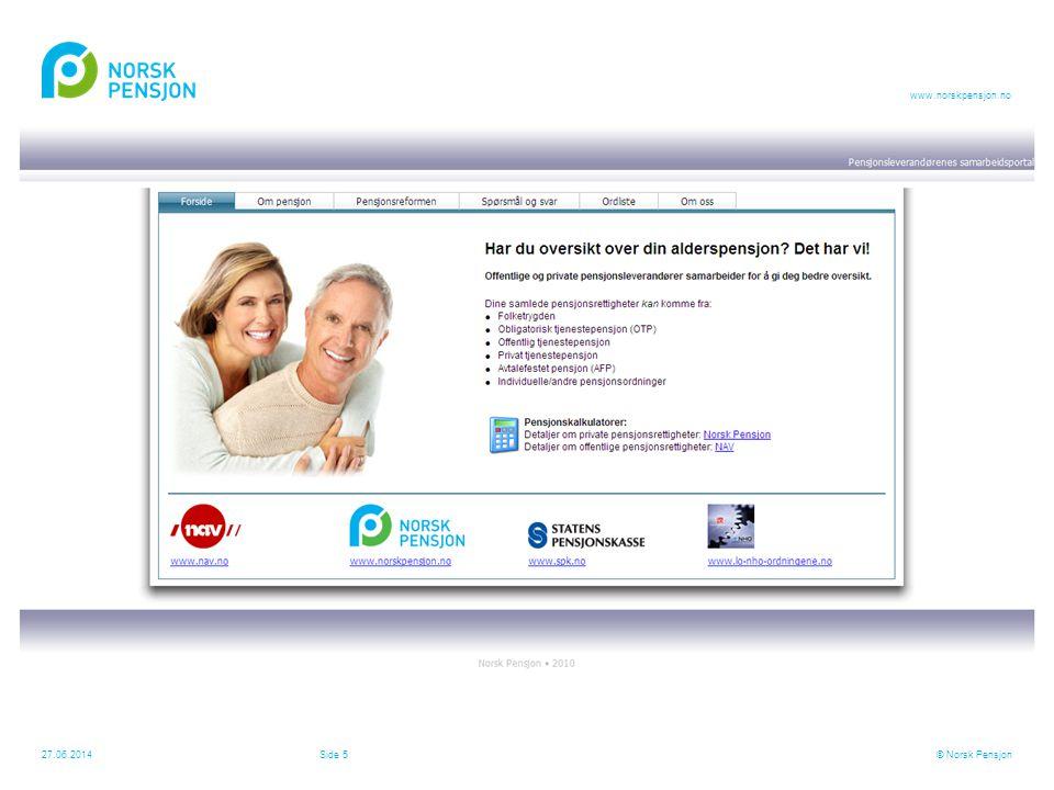 www.norskpensjon.no MMI undersøkelse for Norsk Pensjon – 1060 respondenter •6 av 10 vet ikke hva de får i pensjon •8 av 10 er ikke bekymret for sin øk