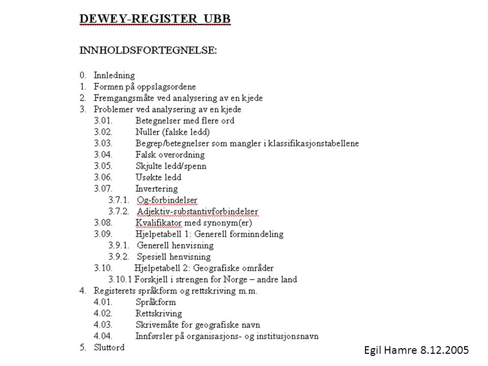Egil Hamre 8.12.2005