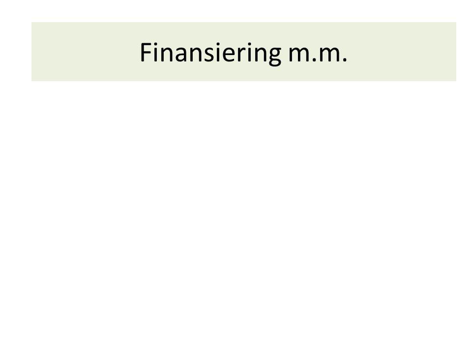 Finansiering m.m.