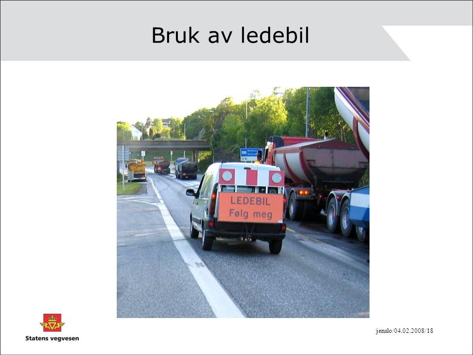 jenslo/04.02.2008/18 Bruk av ledebil