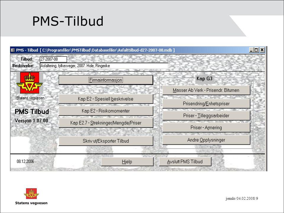 jenslo/04.02.2008/9 PMS-Tilbud