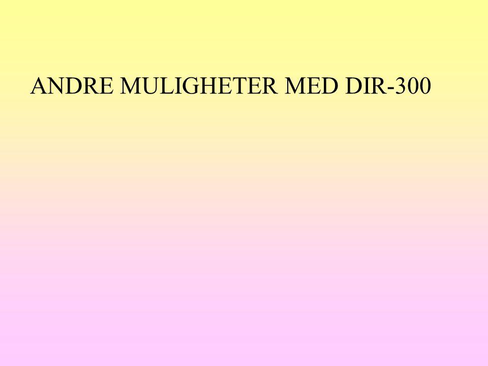 ANDRE MULIGHETER MED DIR-300