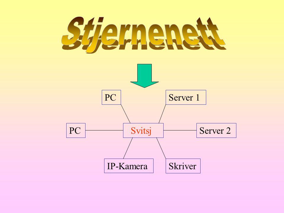 Svitsj IP-KameraSkriver Server 2PC Server 1