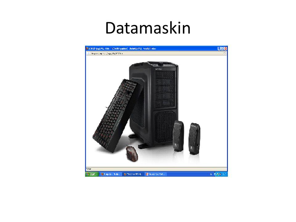Deler • Mus • Tastatur • Skjerm • Kasse – Ram – Hovedkort – Harddisk – Strøm – Prosessor