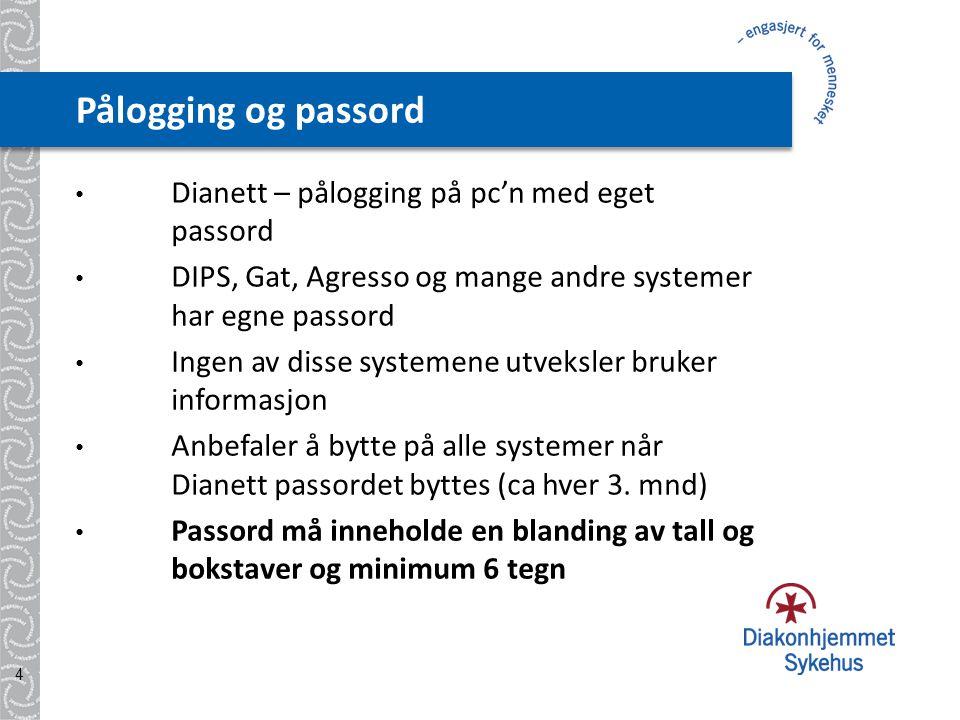 Datasikkerhet • Alle ansatte har eget brukernavn og passord • Ikke lov å låne bort brukernavn og passord • Logg av når du forlater en pc • Det er ikke tillatt å koble opp eget ustyr 5