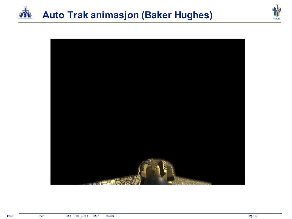 TCP M1.1P30Vers 1 Rev 1090304page 23 ©2009 Auto Trak animasjon (Baker Hughes)