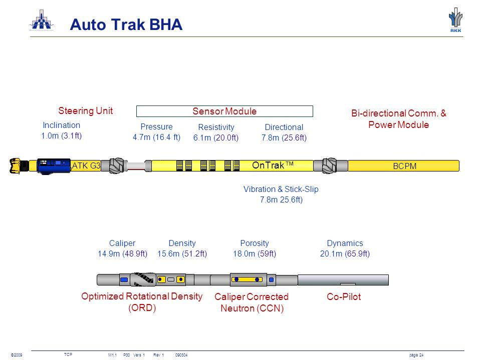 TCP M1.1P30Vers 1 Rev 1090304page 24 ©2009 Auto Trak BHA OnTrak™ BCPM ATK G3 Steering Unit Sensor Module Bi-directional Comm. & Power Module Optimized