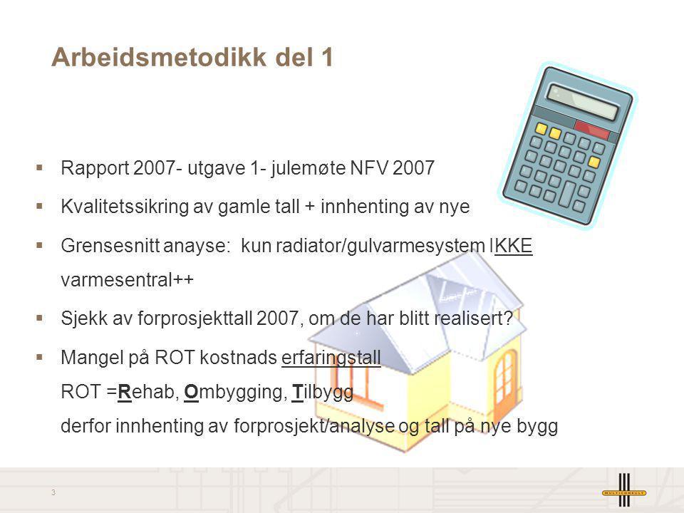 3 Arbeidsmetodikk del 1  Rapport 2007- utgave 1- julemøte NFV 2007  Kvalitetssikring av gamle tall + innhenting av nye  Grensesnitt anayse: kun rad
