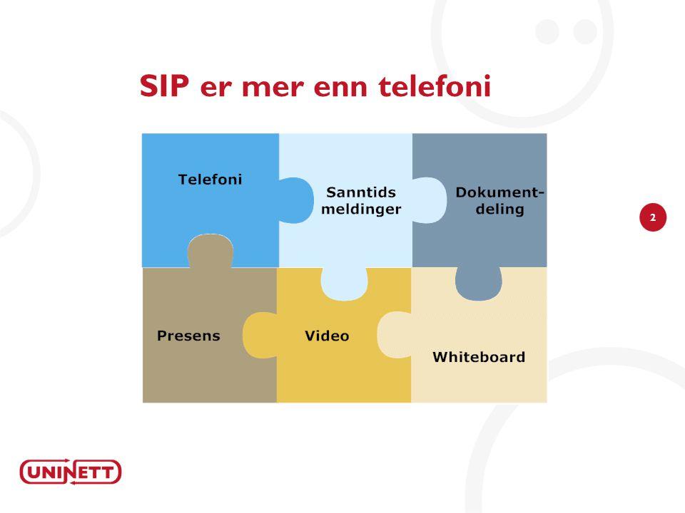 3 SIP signalering vs mediestrøm