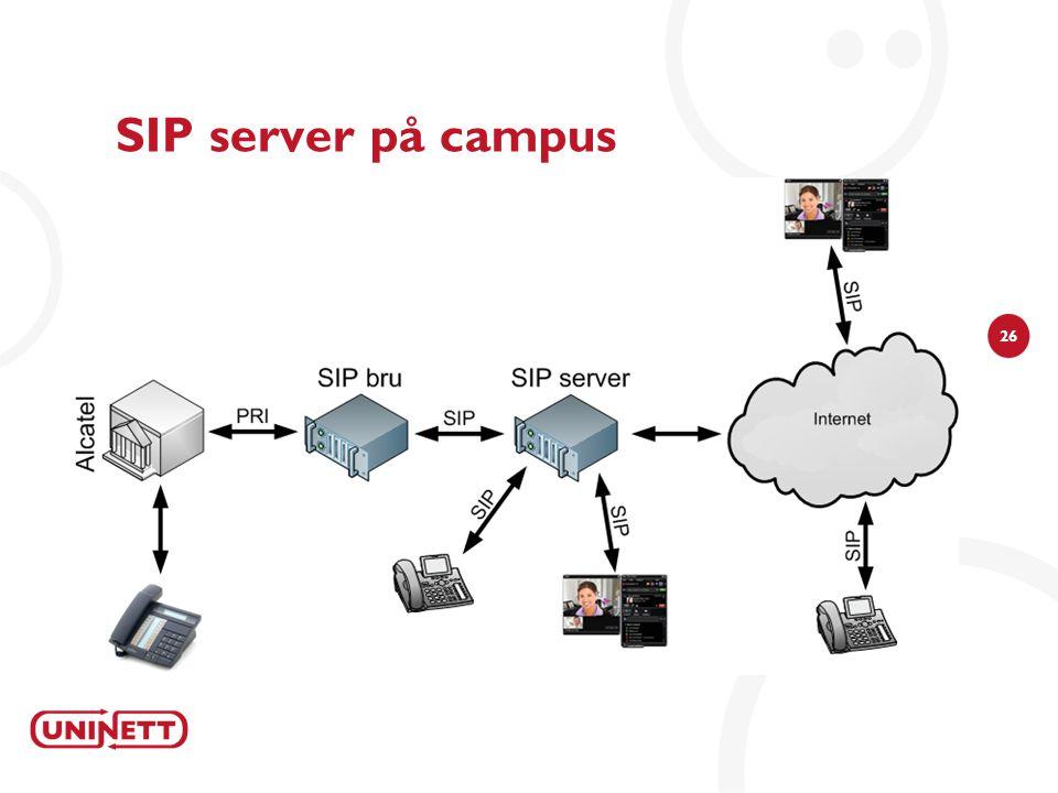 26 SIP server på campus