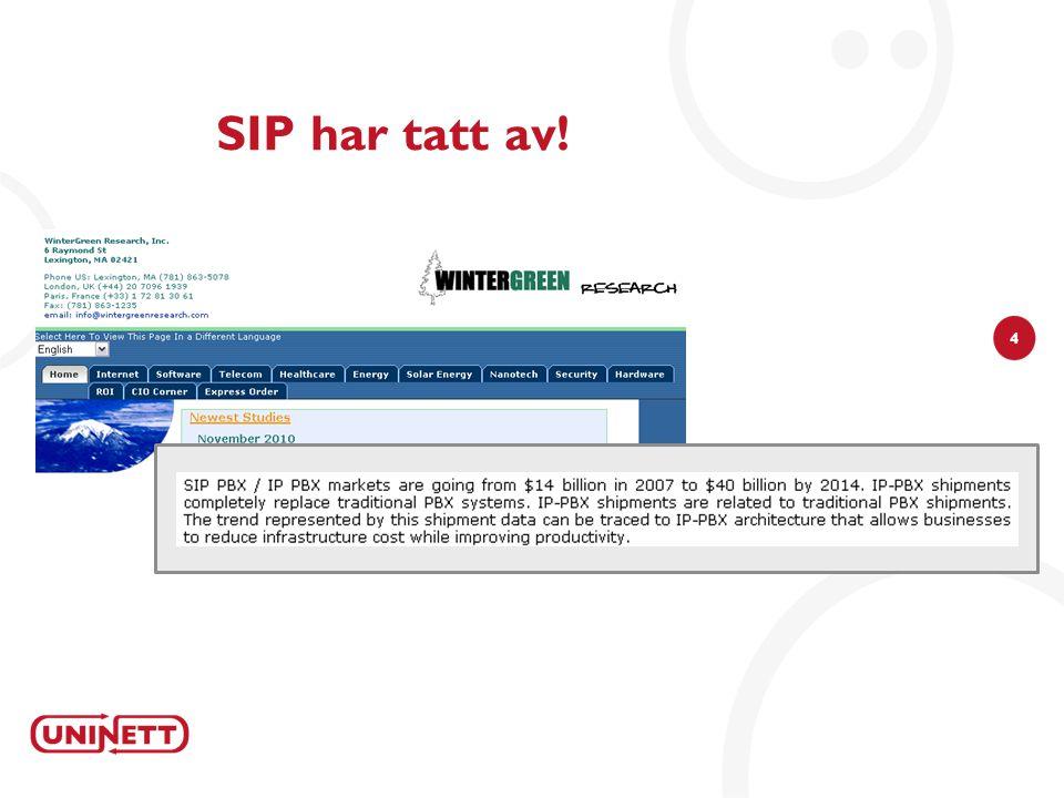 4 SIP har tatt av!