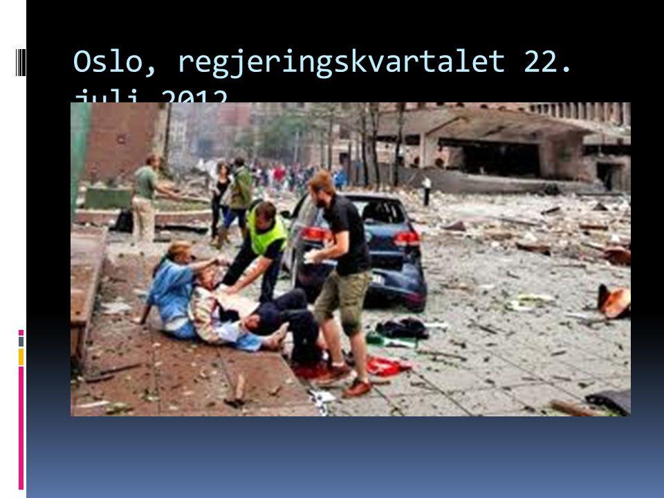 Oslo, regjeringskvartalet 22. juli 2012