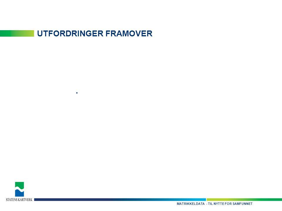 - TIL NYTTE FOR SAMFUNNETMATRIKKELDATA UTFORDRINGER FRAMOVER.