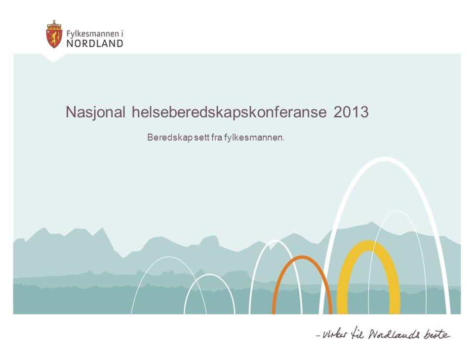 Nasjonal helseberedskapskonferanse 2013 Beredskap sett fra fylkesmannen.