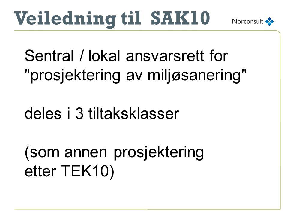 Veiledning til SAK10 Sentral / lokal ansvarsrett for