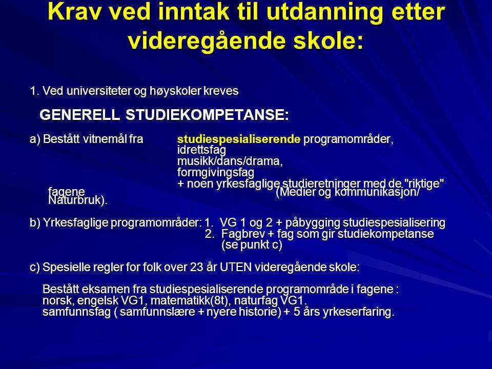 SPESIELL STUDIEKOMPETANSE 2.